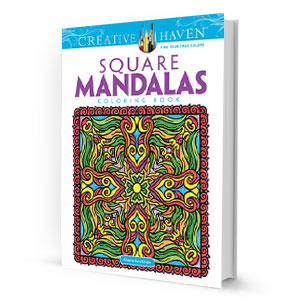 Square Mandalas Coloring Book
