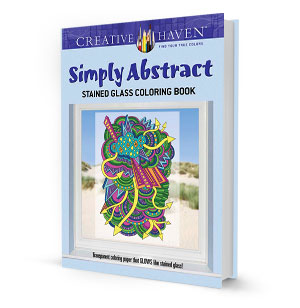 Simply Abstract Stained Glass Coloring Book