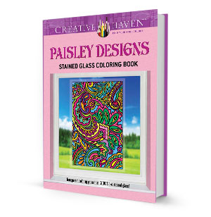 Paisley Designs Stained Glass Coloring Book