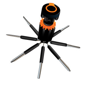 Spidey Tools 8-in-1 Screwdriver Flashlight