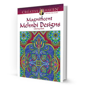 Magnificent Mehndi Designs Coloring Book