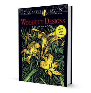 Woodcut Designs Coloring Book