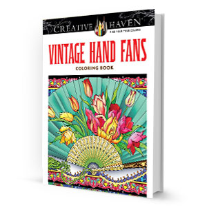 Vintage Hand Fans Coloring Book